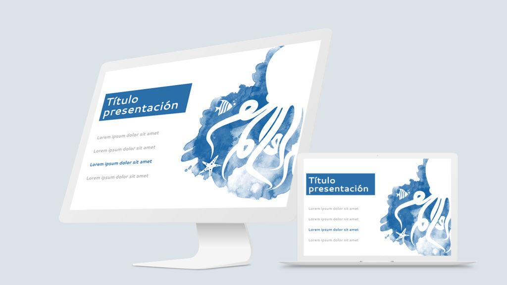diseño de diapositivas sobre biología marina