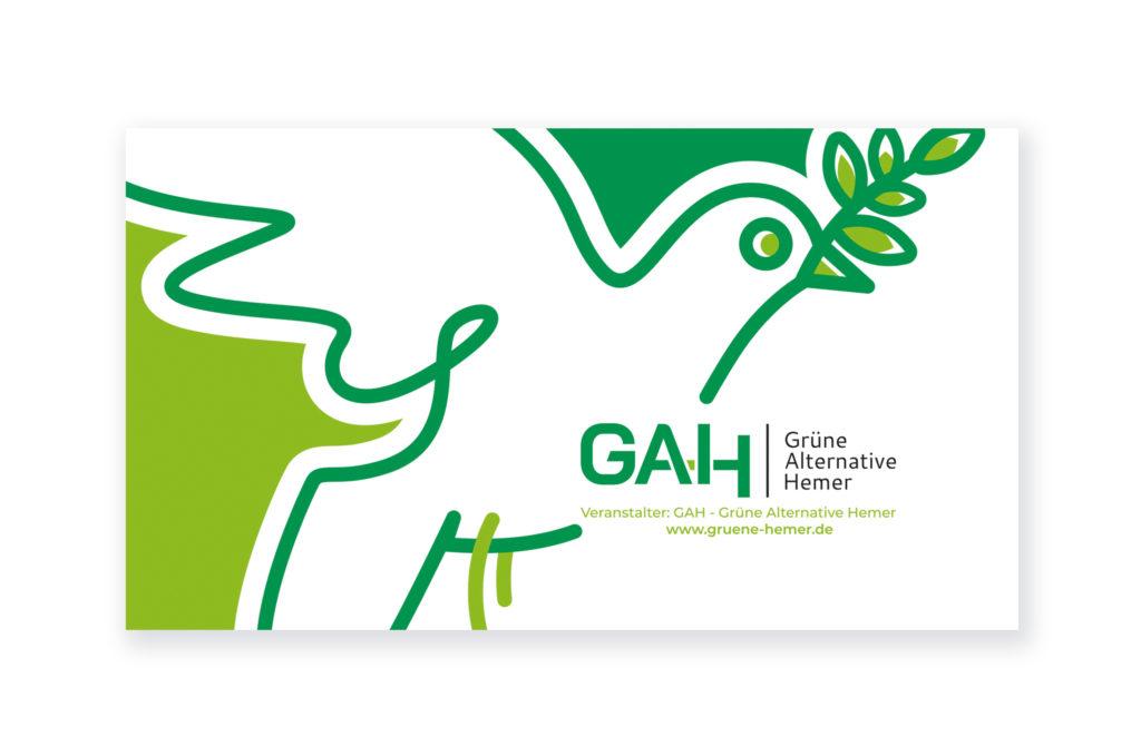 diseño de cartel para festival de la paz en Hemer, Alemania