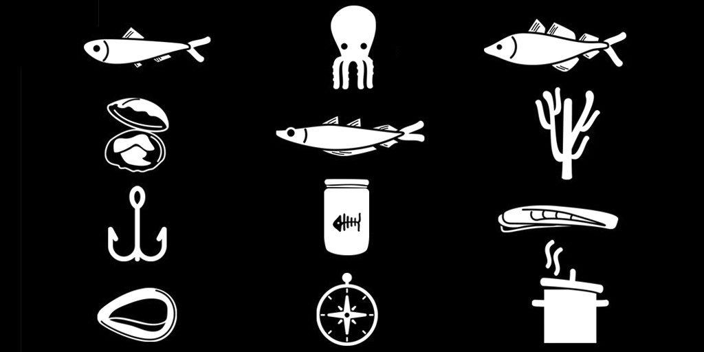 diseño de iconos de producto para web de conservas
